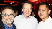 54 Below producer Richard Frankel and chef Jeff Ramos flank All the Way star Bryan Cranston. Congratulations to the winners!