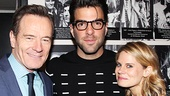 All The Way star Bryan Cranston strikes a pose with The Glass Menagerie alums Zachary Quinto and Celia Keenan-Bolger.