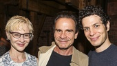 Hamilton - backstage - 8/15 - Tracy Shane- Peter Scolari- Thomas Kail