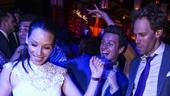 Hamilton - Opening - 8/15 - Lucy Liu,  Jonathan Groff and set designer David Korins