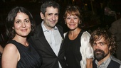 Hamilton - Opening - 8/15 - Jonathan Marc Sherman, and wife Alexandra with Erica Schmidt and Peter Dinklage