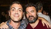 Hamilton - backstage - 8/15 -Joe Lo Truglio - Jonathan Dinklage
