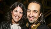 Hamilton - backstage - 9/15 - Monica Lewinksy and Lin-Manuel Miranda