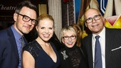 Dames at Sea - opening - 10/15 - Megan Hilty and Brian Gallagher with Sandy Duncan and Don Correia