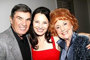 Foto på Fran Drescher  & hennes Pappa Mamma  Morty Drescher & Sylvia Drescher