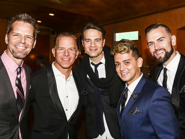 The Jersey Boys - 10th Anniversary - 11/15 - J Robert Spencer, Christian Hoff, Jordan Roth, Michael Longoria and Daniel Reichard