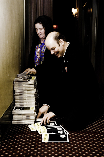 Day in the Life of Phantom of the Opera – stuffing playbills