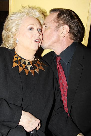 Sondheim on Sondheim Opening Night – Barbara Cook – Tom Wopat kiss