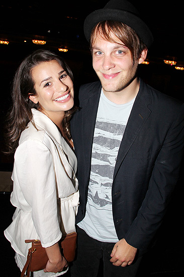 Glee Cast at Sister Act – Lea Michele – Theo Stockman