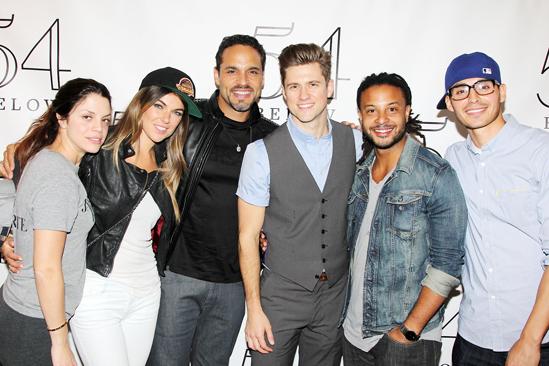 'Graceland' Cast and Aaron Tveit at 54 Below — Vanessa Ferlito — Serinda Swan — Daniel Sunjata — Aaron Tveit — Brandon Jay McLaren — Manny Montana