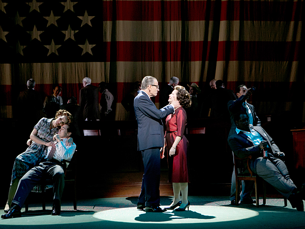 All The Way - Show Photos - Bryan Cranston - Betsy Aidem