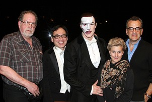 Photo Op - Phantom 8,000th Performance - Craig Jacobs - David Lai - Howard McGillin - Denny Berry - Peter von Maryhauser