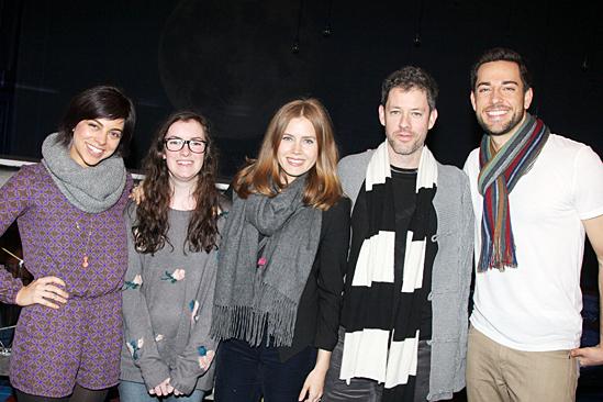 Amy Adams visits First Date - Krysta Rodriguez - Kasey MacKenzie - Amy Adams - Darren Le Gallo - Zachary Levi