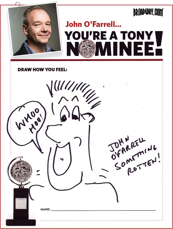 Tony Nominee Drawings – 2015 – John O'Farrell