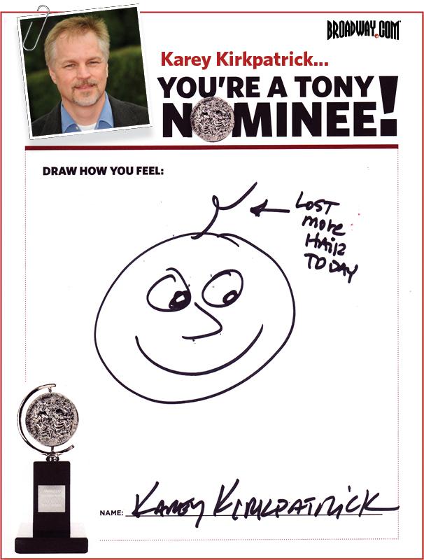 Tony Nominee Drawings – 2015 – Karey Kirkpatrick