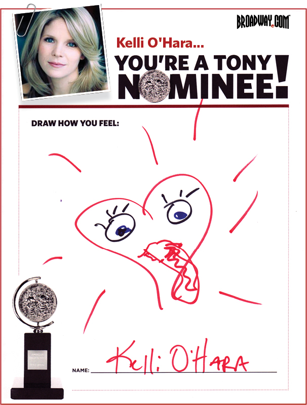 Tony Nominee Drawings – 2015 – Kelli O'Hara