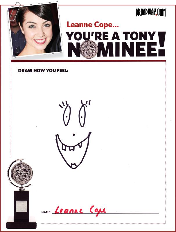 Tony Nominee Drawings – 2015 – Leanne Cope