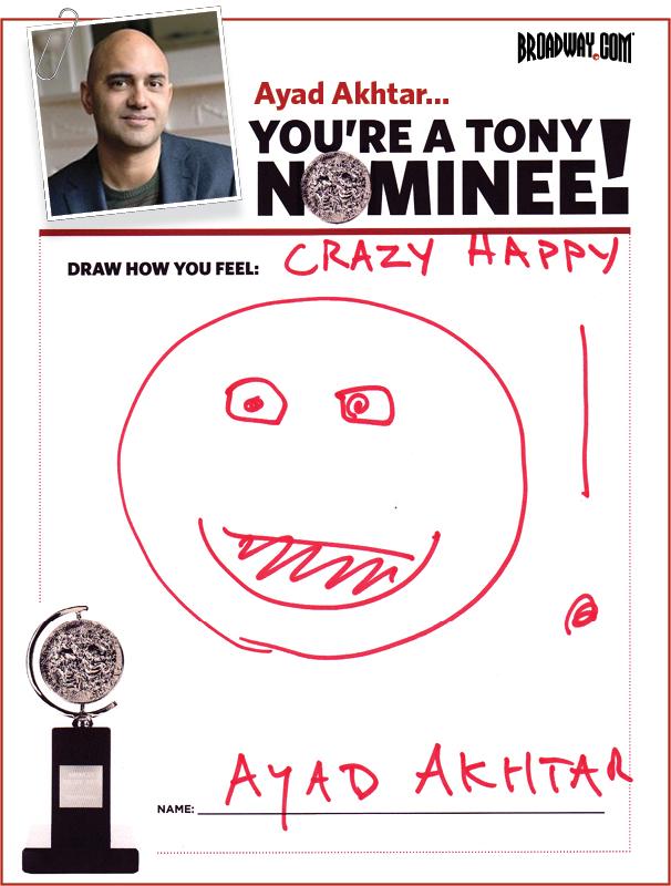 Tony Nominee Drawings – 2015 – Ayad Akhtar