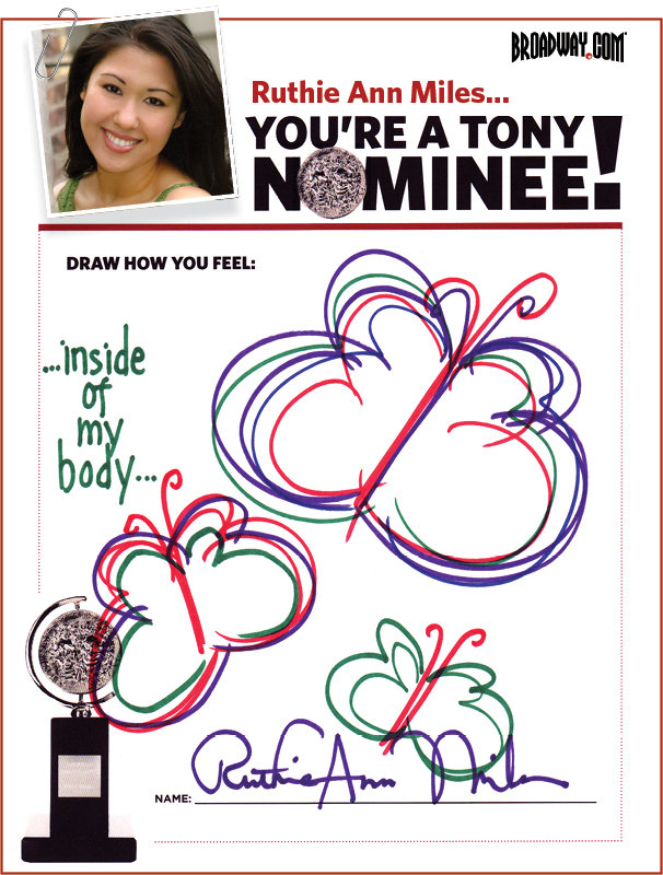 Tony Nominee Drawings – 2015 – Ruthie Ann Miles