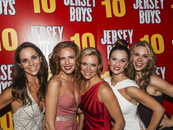 The Jersey Boys - 10th Anniversary - 11/15 - Sara Schmidt- Candi Boyd-Cara Cooper- Katie O'Toole- jessica Rush