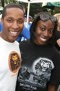 Photo Op - Broadway in Bryant Park 07-26-07 - Cornelius Jones  Jr. - Sophia N. Stephens