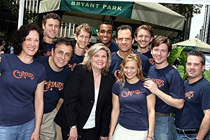 Photo Op - Broadway in Bryant Park 07-26-07 - cast of curtains backstage