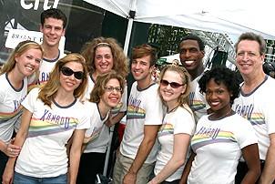 Photo Op - Broadway in Bryant Park 07-26-07 - Xanadu cast backstage