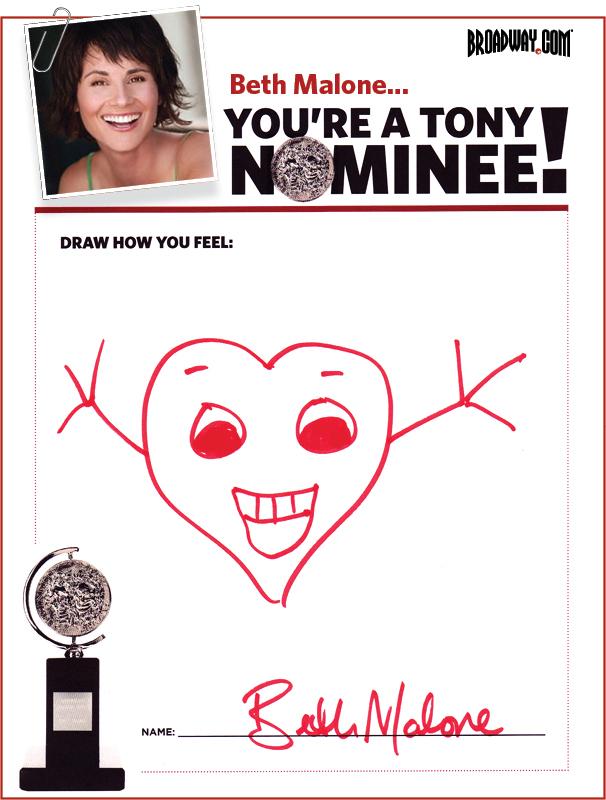 Tony Nominee Drawings – 2015 – Beth Malone