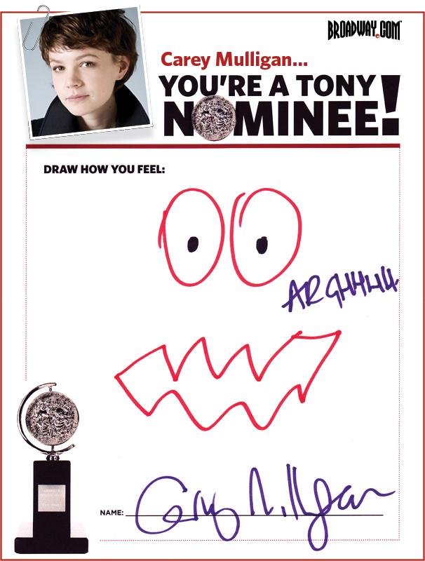 Tony Nominee Drawings – 2015 – Carey Mulligan
