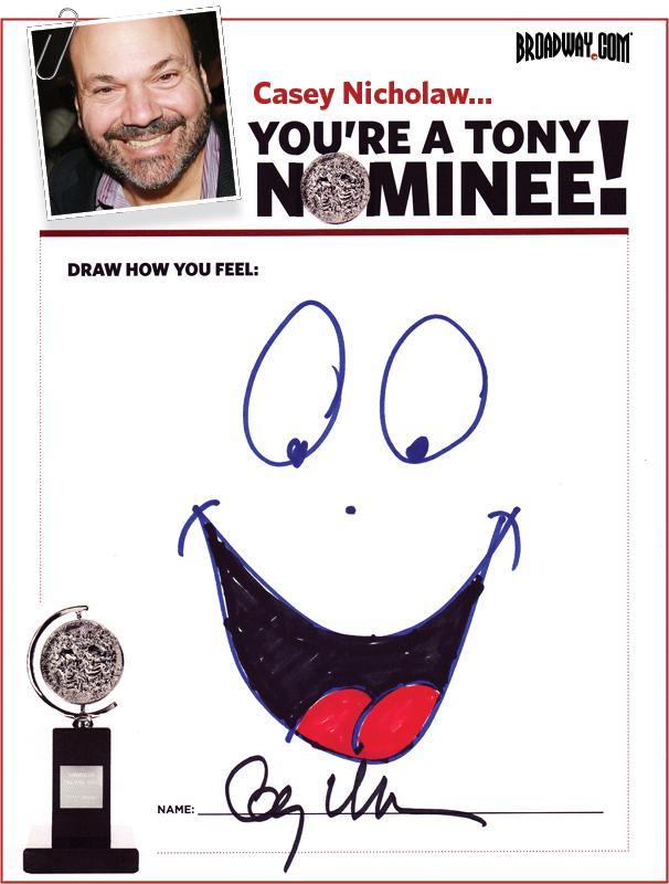 Tony Nominee Drawings – 2015 – Casey Nicholaw
