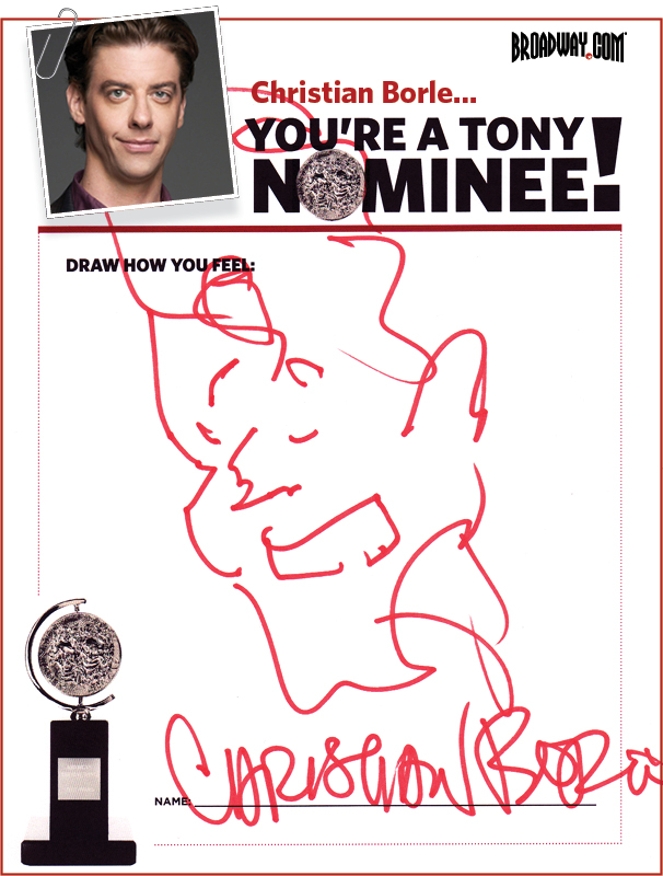 Tony Nominee Drawings – 2015 – Christian Borle