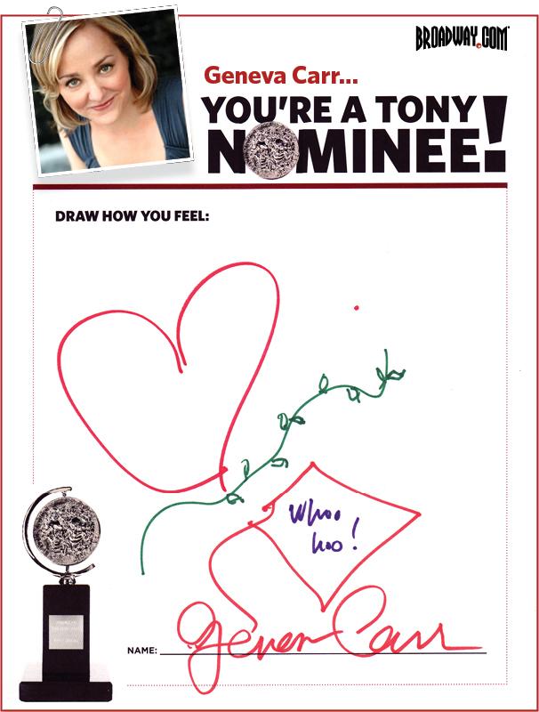 Tony Nominee Drawings – 2015 – Geneva Carr