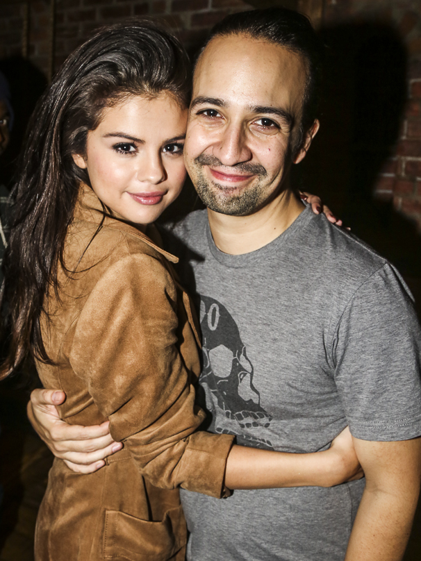 Hamilton - Backstage - 10/15 - Selena Gomez and Lin-Manuel Miranda