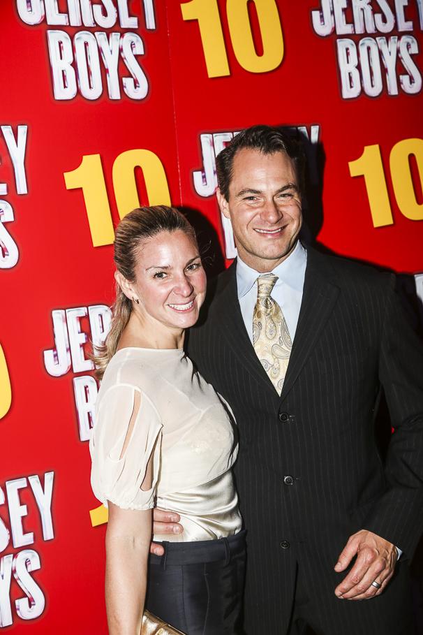 The Jersey Boys - 10th Anniversary - 11/15 - wife Jessica Bogart-Matt Bogart