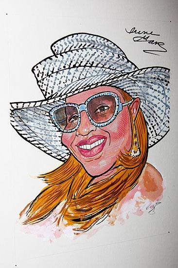 Irene Gandy Sardi's caricature – Irene Gandy caricature