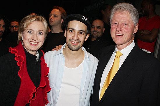 The Clintons at In the Heights – Hillary Clinton - Lin-Manuel Miranda – Bill Clinton