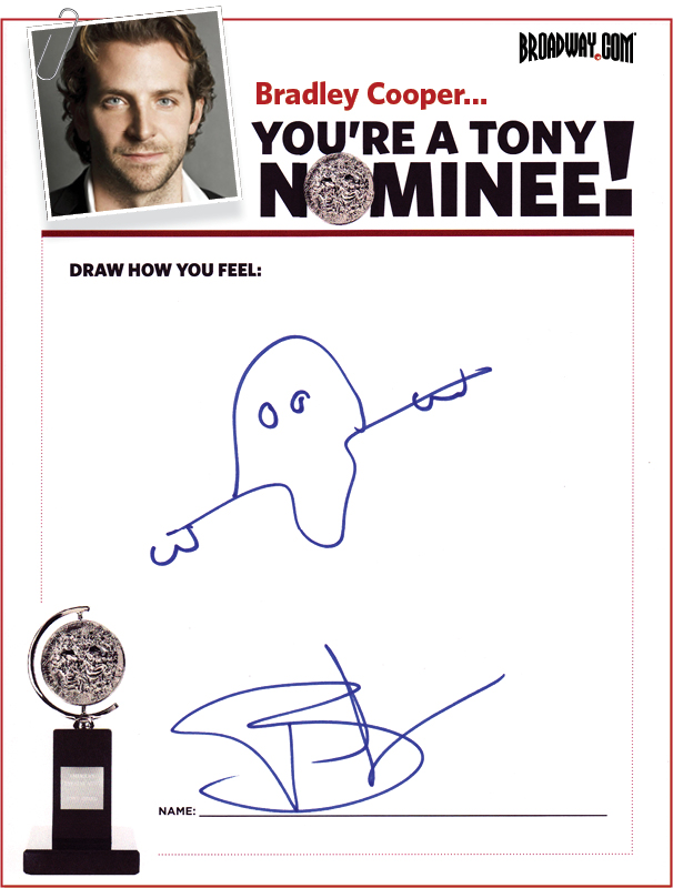Tony Nominee Drawings – 2015 – Bradley Cooper
