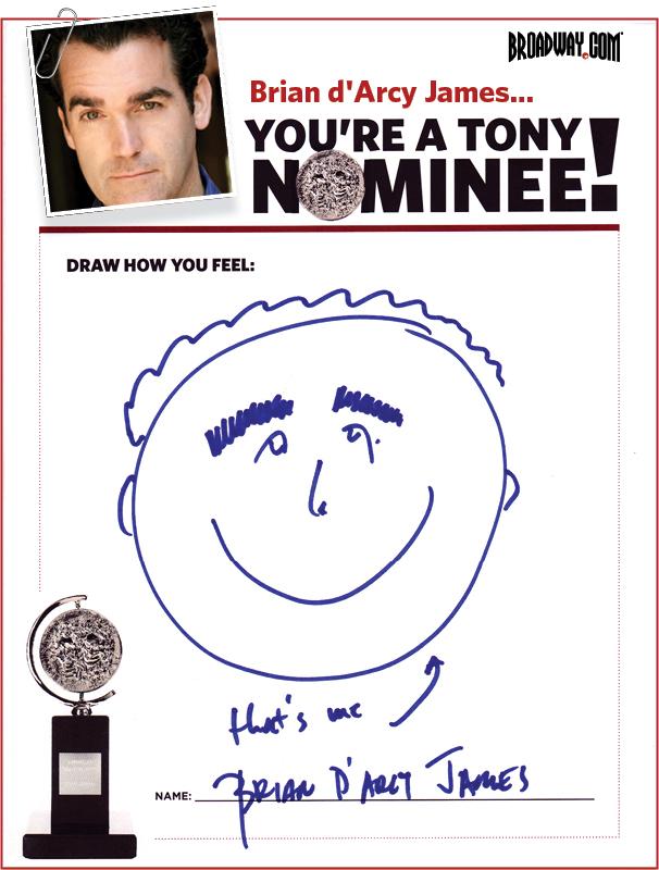 Tony Nominee Drawings – 2015 – Brian d'Arcy James