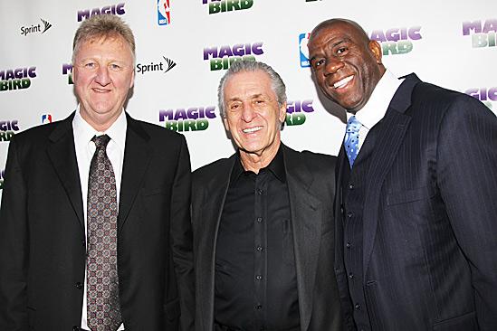 Magic.Bird Opening Night – Larry Bird – Pat Riley – Magic Johnson